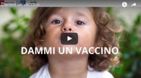 Video della campagna 'Dammi un vaccino' sul sito della Regione Toscana