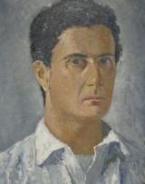 Carlo Del Bravo in un ritratto di Giovanni Colacicchi esposto nel 2014 a Villa Bardini