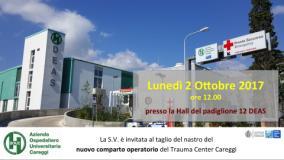 Invito inaugurazione nuovo blocco operatorio trauma center a Careggi
