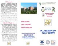 Brochure  cinquantesimo   Villa Serena