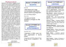 Brochure  programma  Villa Serena cinquantesimo