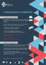 Locandina aggiornamento dei servizi demografici a Firenze