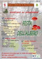 La locandina con il programma della Giornata nazionale degli alberi al Parco di Pratolino