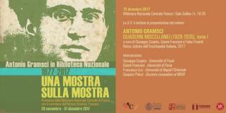 Invito presentazione 'Antonio Gramsci Quaderni miscellanei'
