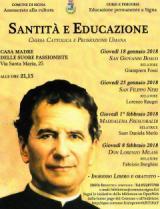 Manifesto incontri su santita' e educazione a Signa