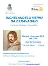 Volantino conferenza su Caravaggio a Signa