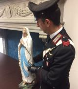 La statua recuperata a Borgo