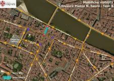 Mappa modifiche viabilita' piazza Nazario Sauro