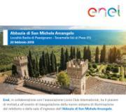 Invito cerimonia inaugurazione del nuovo sistema di illuminazione dell'Abbazia di Badia a Passignano