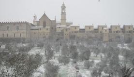 Neve sulla Certosa del Galluzzo (Foto redazione Met)