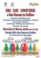 San Donato, i sindaci Casini e Lorenzini incontrano la popolazione