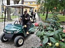 Golf car orto botanico (fonte foto comunicato stampa)