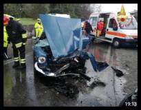 Incidente via di Rosano (Foto vigili del fuoco)