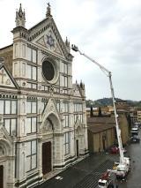 Santa Croce, controllo periodico della facciata (fonte foto Opera Santa Croce)