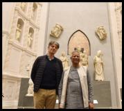 Muhammad Yunus in visita al Museo dell'Opera del Duomo
