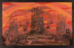 Mostra di bozzetti di scena disegnati da Fraco Zeffirelli