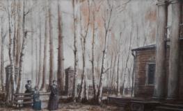 Bozzetto di Zeffirelli esposto alla Mostra dell'Artigianato