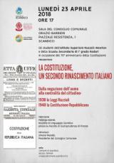 Manifesto 'La Costituzione, un secondo Rinascimento italiano'