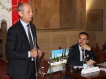 L'assessore regionale Stefano Ciuoffo ed il sindaco Giacomo Cucini
