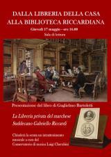 Il manifesto dell'incontro nella Biblioteca Riccardiana