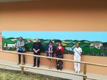 Murale della grande bellezza dedicato al territorio unito