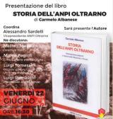 Locandina Presentazione del libro 'Storia dell'Anpi Oltrarno'