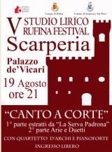 Locandina Studio Lirico Rufina Festival