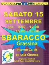 Lo Sbaracco del Calcit sabato 15 settembre a Grassina