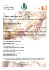 Lezioni su Giotto e Michelangelo, alla Biblioteca comunale