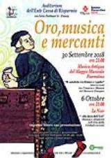 Locandina Concerti Oro,Musica e Mercanti