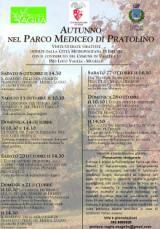 Locandina visite di ottobre nel Parco di Pratolino