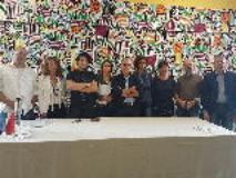 Foto di gruppo inaugurazione Atelier a Lastra a Signa