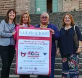 la vicesindaco Emma Donnini insieme ai tre dirigenti scolastici di Fucecchio: Maria Elena Colombai, Tommaso Bertelli e Barbara Zari