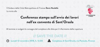 L'invito per la conferenza stampa con 'save the date'