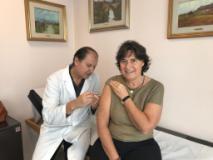 Saccardi si è vaccinata
