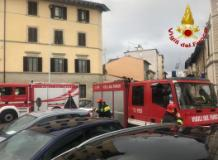 I vigili del fuoco in via Bixio