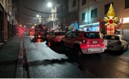 Intervento dei Vigili del fuoco in via Doni