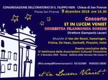 Locandina concerto Filarmonica Rossini per l'Immacolata