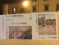 Il cantiere in Piazza Montanelli