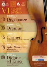 Manifesto Stagione Lirico Sinfonica a Borgo San Lorenzo