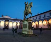Nuova illuminazione di piazza Santissima Annunziata