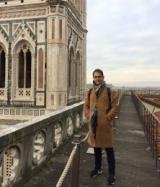Pedro Alonso sulle terrazze dell'Opera del Duomo di Firenze