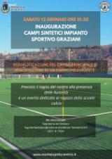 Montelupo. Sabato 12 gennaio: inaugurazione campi sintetici impianto sportivo Graziani