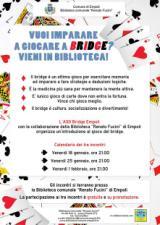 Locandina bridge alla Biblioteca di Empoli