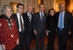Da sinistra Giovanna Gentile Ferragamo, Dario Nardella, Andrea Calistri, Leonardo Ferragamo, Chiara Miari Fulcis, Massimo Ferragamo