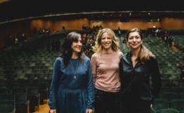 Sonia Bergamasco, Elena Bucci e Nicola Raab (Foto Michele Monasta)
