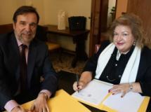 Il Prefetto di Pistoia Emilia Zarrilli e il rettore Luigi Dei (fonte foto comunicato)