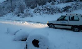 Neve sulle strade del Chianti