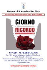Volantino Giorno del Ricordo a ScarperiaSanPiero