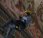 Restauro acrobatico nellòa Cupola del Duomo